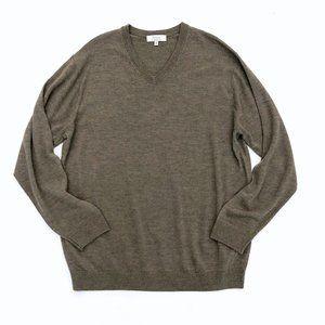 TURNBURY Men's Fine Merino Wool V-Neck Sweater 2XT